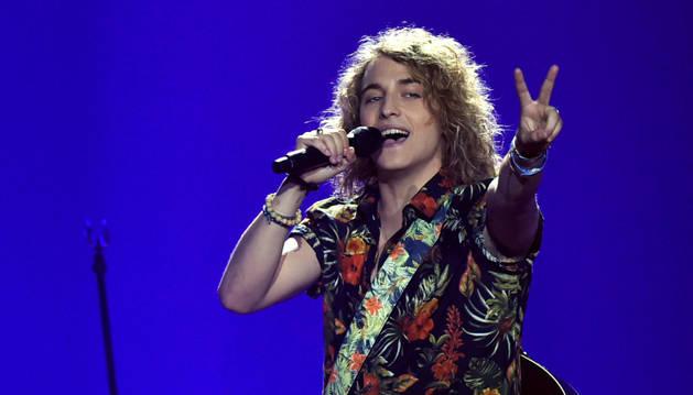 Foto de Manel Navarro, en Eurovisión 2017.
