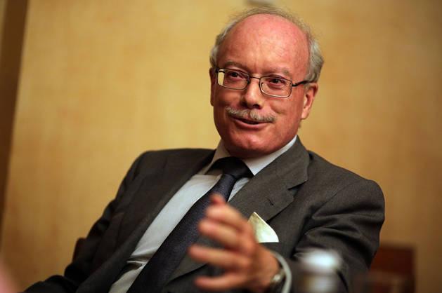Imagen de José Luis Feito durante un momento de la entrevista.