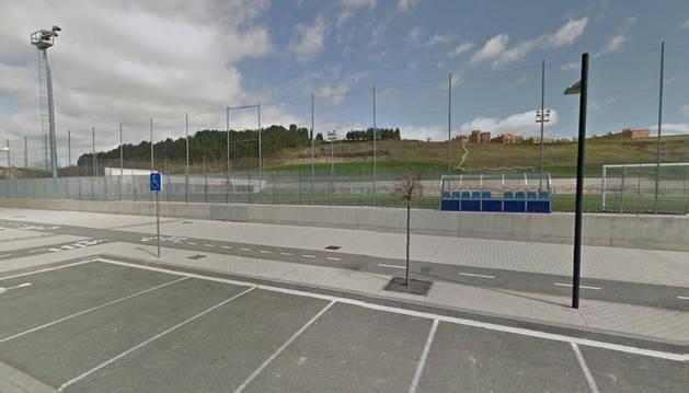 Imagen del campo de fútbol de Lezkairu.