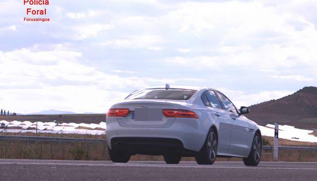'Cazado' un conductor a 213 km/h. en Ablitas y da positivo en drogas