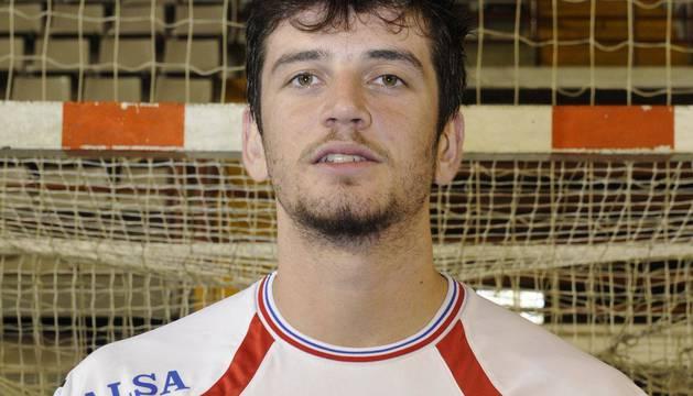 Raúl Nantes, con la camiseta del Ademar de León.