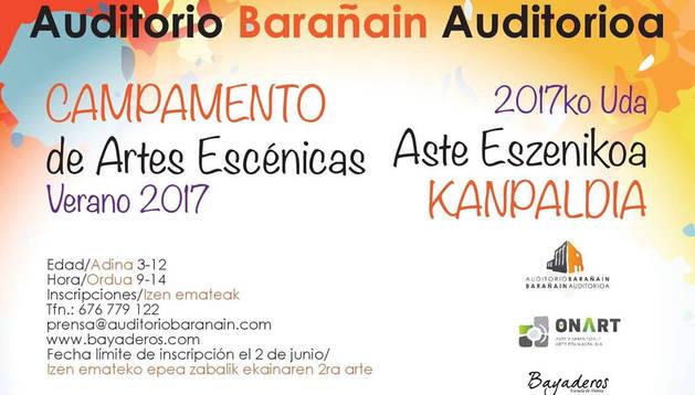 Nuevos campamentos de artes escénicas de verano en el Auditorio Barañáin