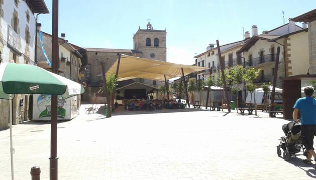 Foto de la Herriko Plaza, epicentro de la fiesta.