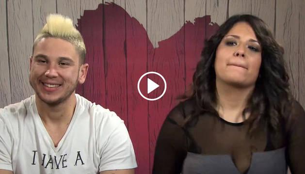 Imagen de los Sandra y Juan José, en el programa de First Dates.