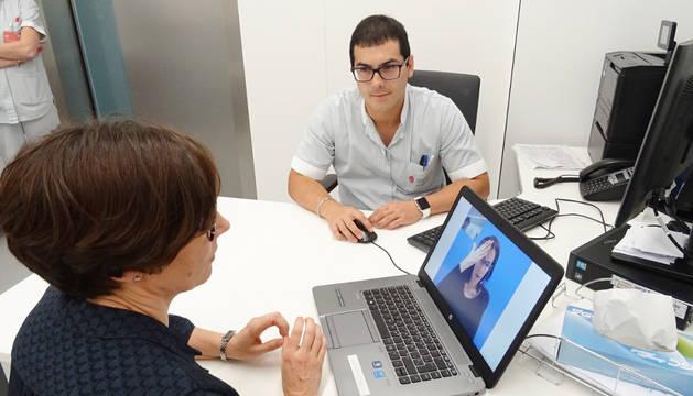 Imagen del sistema de videointerpretación de lengua de signos.