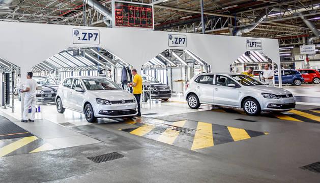 Foto de la planta de Landaben se prepara para la llegada del segundo modelo.