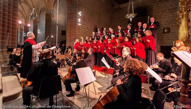 La Capilla de Música, durante un concierto en la Catedral de Pamplona.