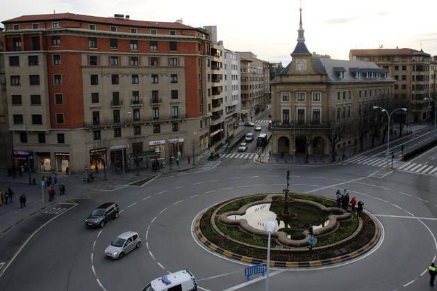 Imagen de la plaza Merindades de Pamplona, donde se celebrará la concentración.