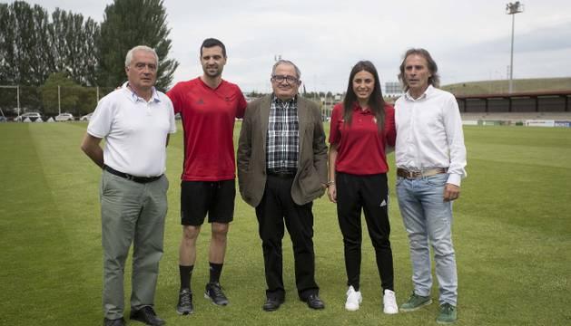 Patxi Bator, Miguel Flaño, Luis Sabalza, María Celigueta y Ángel Alcalde.
