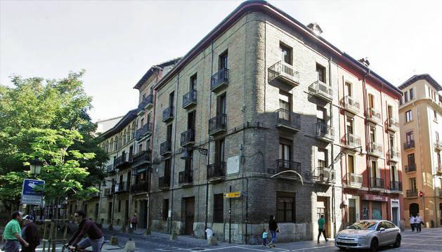 Imagen de la plaza Recoletas, donde los Sanfermines pasados se instaló un punto informativo.