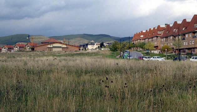Imagen de archivo de la parcela de Gorraiz donde se proyecta el colegio.