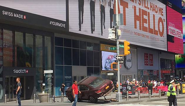 Atropello mortal en Times Square