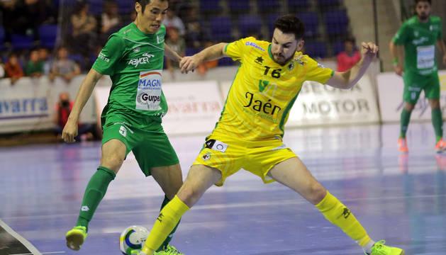 Imagen del primer partido de la eliminatoria.