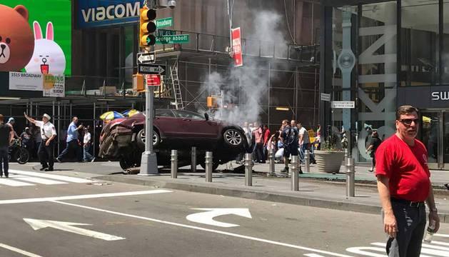 Imagen del estado en el que ha quedado el vehículo implicado.