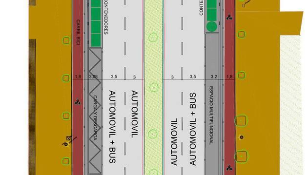Mapa de la nueva propuesta de Pío XII elaborada por los técnicos.