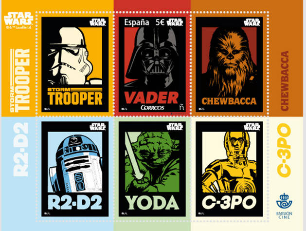Imagen de los sellos de Star Wars.