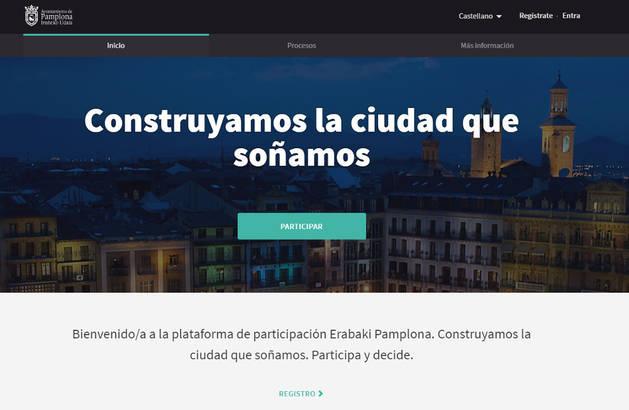 Imagen de la página principal de la web que ha abierto el Ayuntamiento.