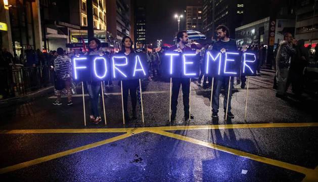 Protestas en Brasil contra Temer, su presidente