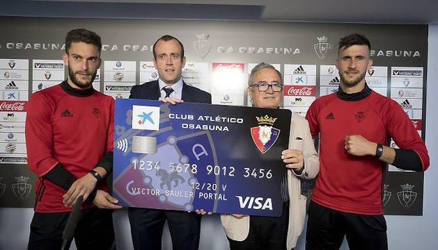 Presentación de la nueva tarjeta Visa Club Atlético Osasuna.