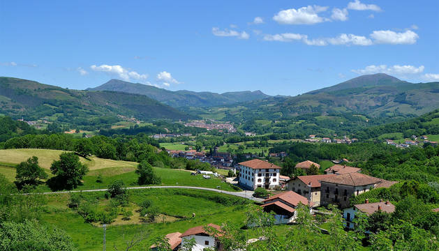 Vista general del valle de Baztan.