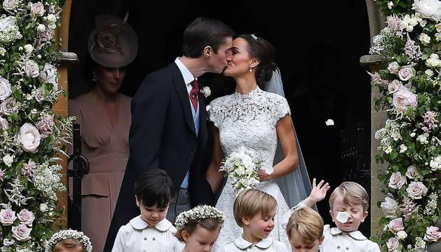 Foto de Pippa Middleton y su marido, James Matthews.
