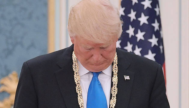 Donald Trump, en Arabia Saudí.