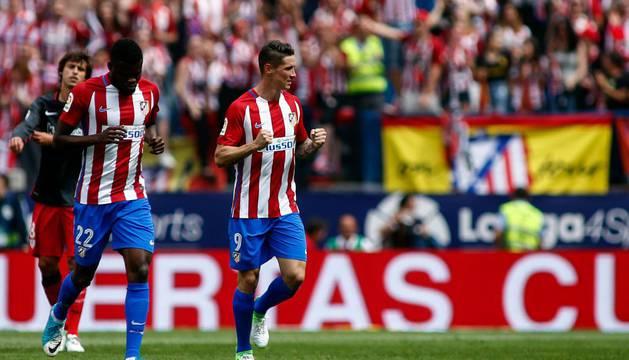 Fernando Torres fue uno de los protagonistas de la velada de despedida del Calderón
