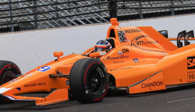 Foto de Fernando Alonso, en Indianápolis.