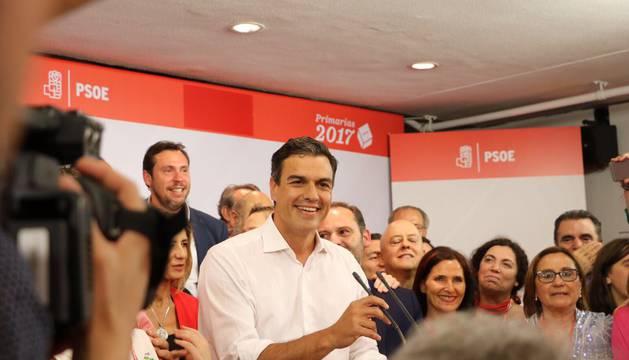 Declaraciones de Pedro Sánchez tras su victoria