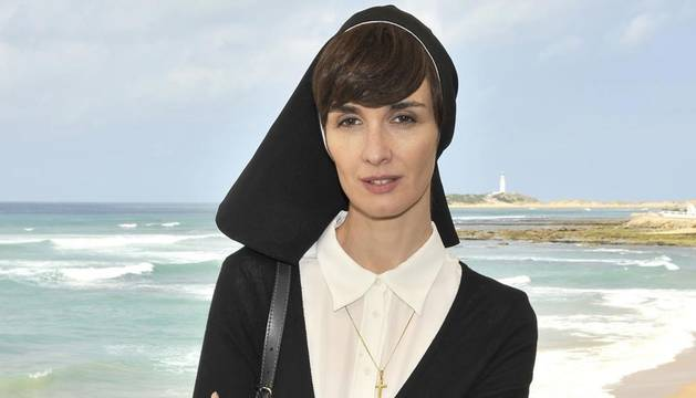 Foto de Paz Vega, en una imagen promocional de la  miniserie de Tele 5 'Perdóname, Señor'.