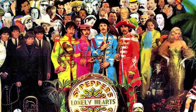 La portada del disco Sgt. Pepper