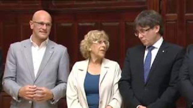"""Puigdemont: """"El Estado español no puede parar tanta democracia"""""""