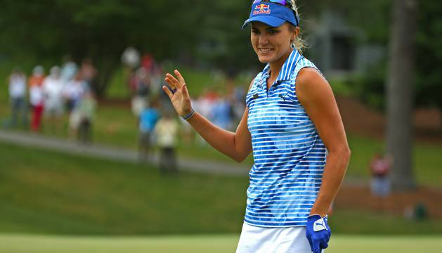 La ganadora, Lexi Thompson.