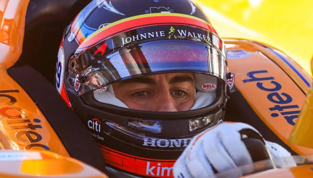 Foto del español Fernando Alonso (Andretti Autosport), en Indianápolis.