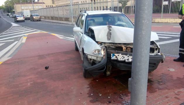 Foto del vehículo implicado en el accidente.