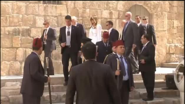 Donald Trump visita el Santo Sepulcro, en Jerusalén