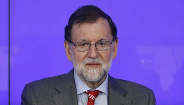 Foto del jefe del Ejecutivo, Mariano Rajoy, en la reunión del Comité Ejecutivo Nacional del PP.