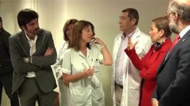 Visita de la Presidenta Barkos al Hospital Reina Sofía de Tudela