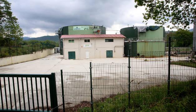 Imagen de la planta de biogás de Ultzama, clausurada en Iraitzoz.