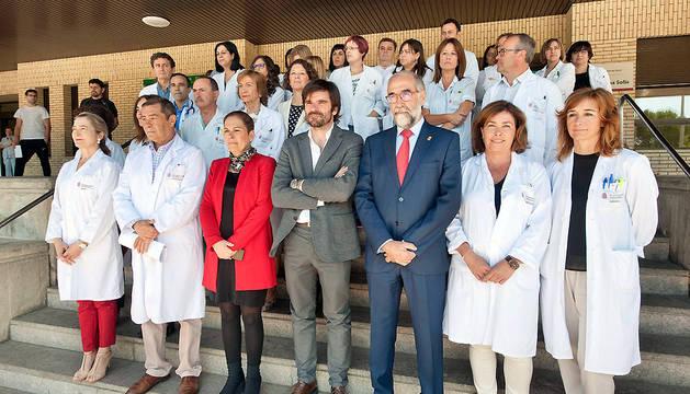 Barkos ha participado en la concentración convocada en Tudela.