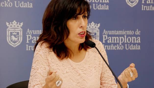 Maite Esporrín, portavoz del Grupo Municipal Socialista del Ayuntamiento de Pamplona