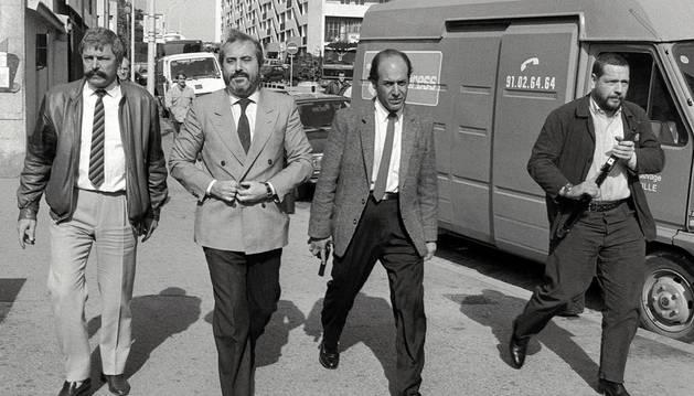 Imagen de archivo del juez Falcone tomada en octubre de 1986.