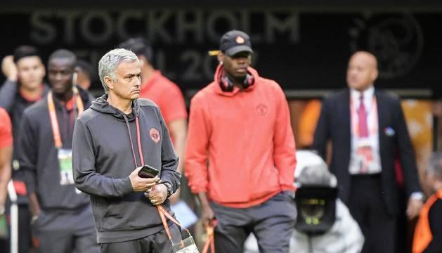 Mourinho, en el Friends Arena de Estocolmo.