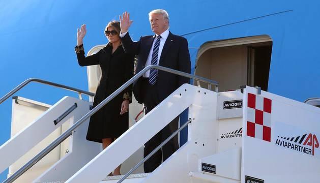 Trump inicia en Roma su gira europea tras el atentado en Manchester