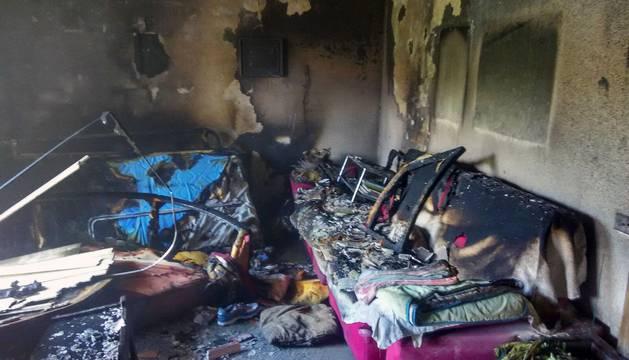 Incendio en un piso de Barañáin