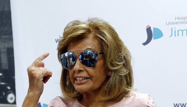 Imágenes de la salida de la periodista María Teresa Campos tras ocho días hospitalizada por un ictus.