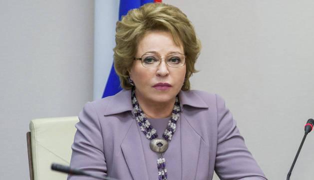 La presidenta del Senado ruso, Valentina Matvienko