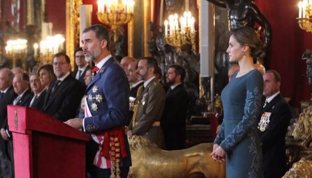 Los Reyes en la celebración de la Pascua Militar