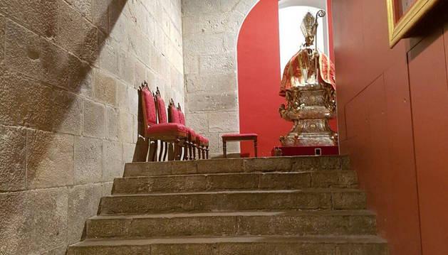 Imagen de uno de los accesos al futuro museo de la capilla de San Fermín.