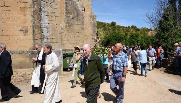 Imagen de San Zoilo a su llegada a la basílica de Cáseda.